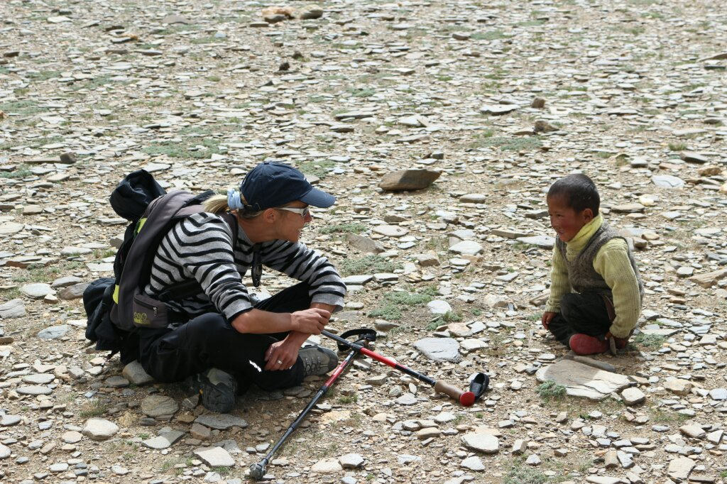 trekking au ladakh enfants tibetains