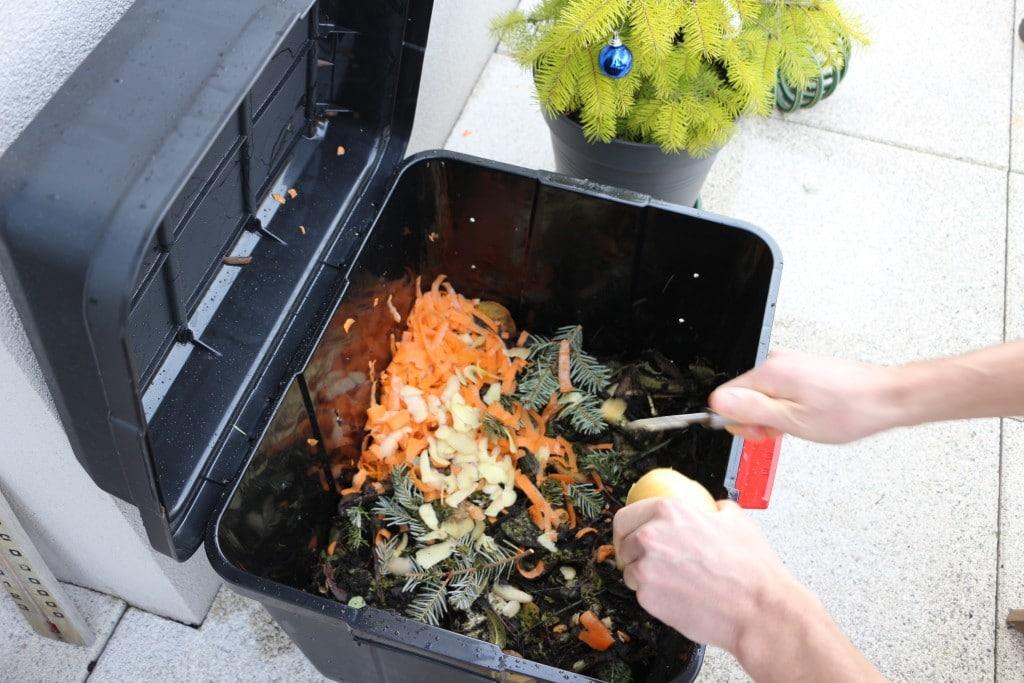 compostage : bac à compost et déchets