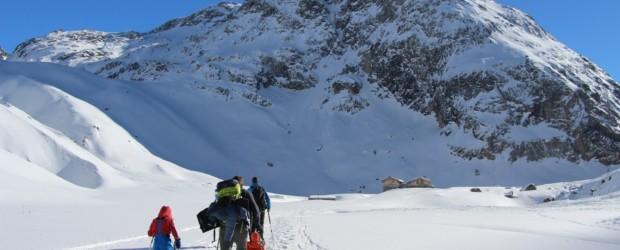Parc de la Vanoise, randonnée hivernale et nuit au refuge du Saut