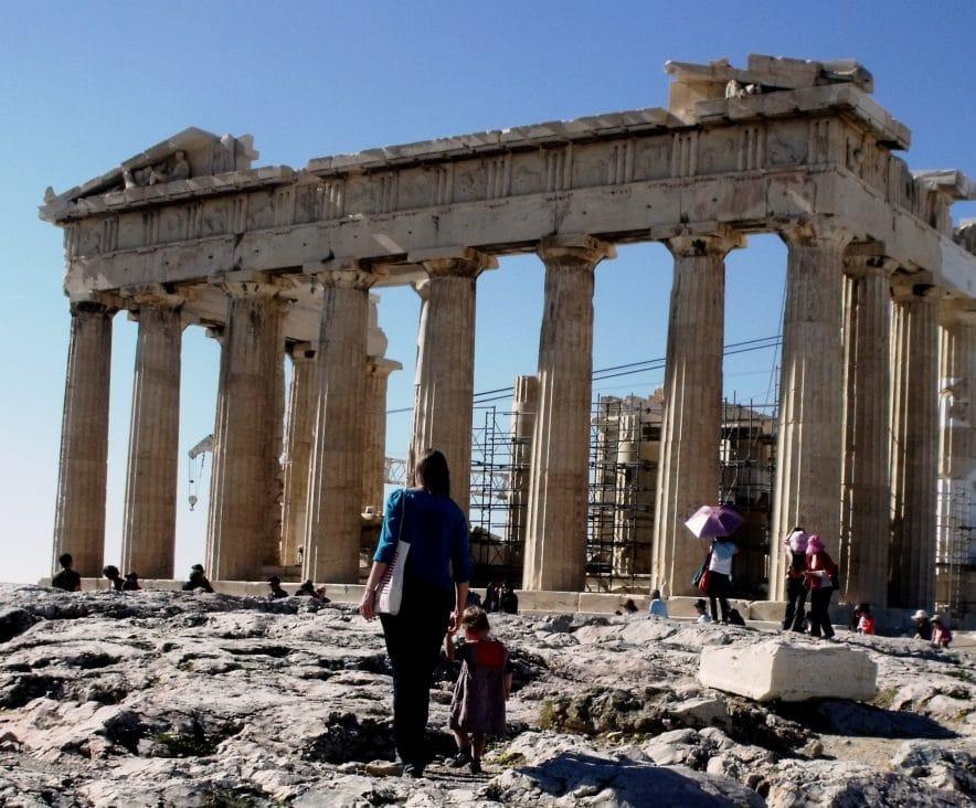voyager avec un bebe athenes