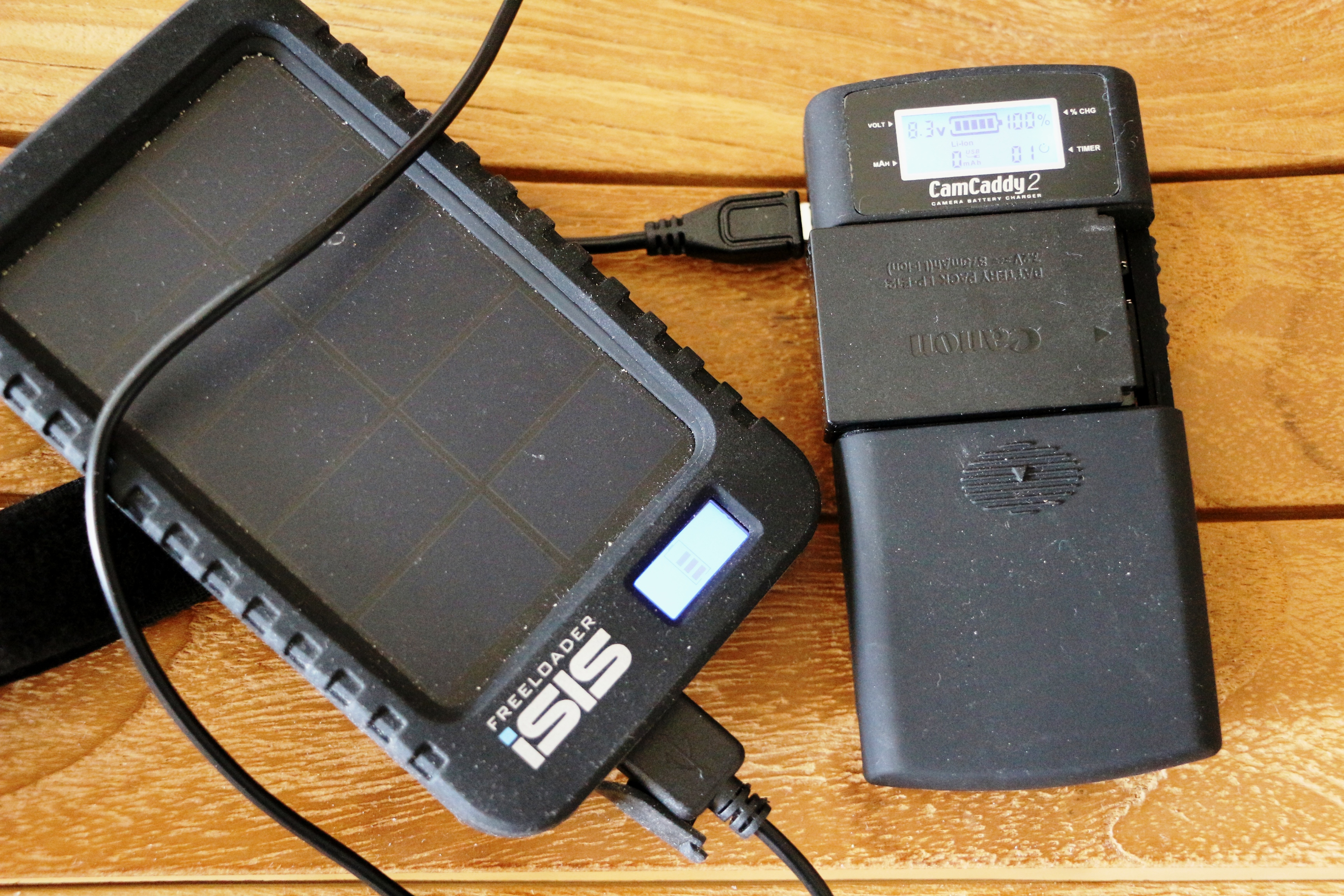 chargeur solaire globetrotter camcaddy