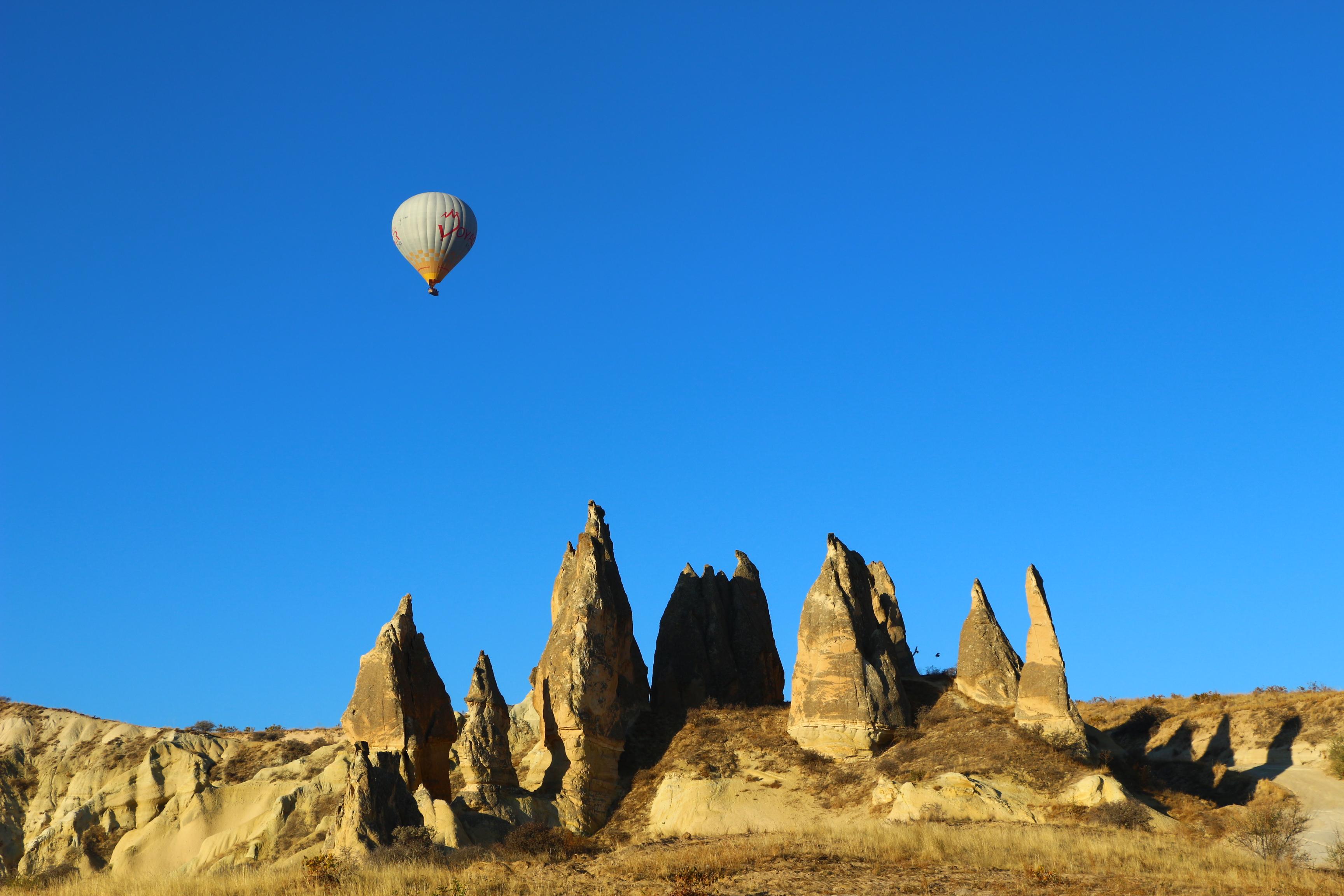 montgolfiere en cappadoce chemin