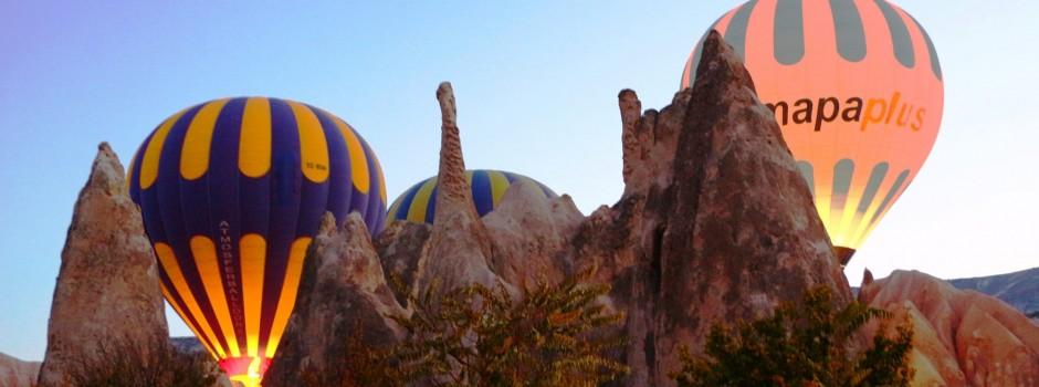 Montgolfière en Cappadoce : vol au-dessus des cheminées de fées !