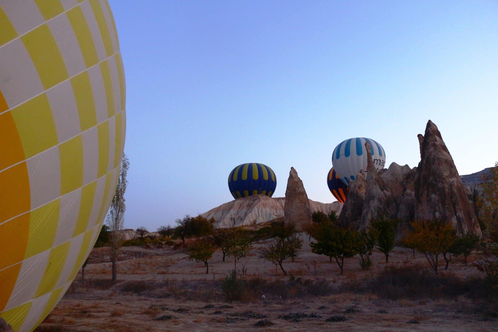 montgolfiere en cappadoce depart