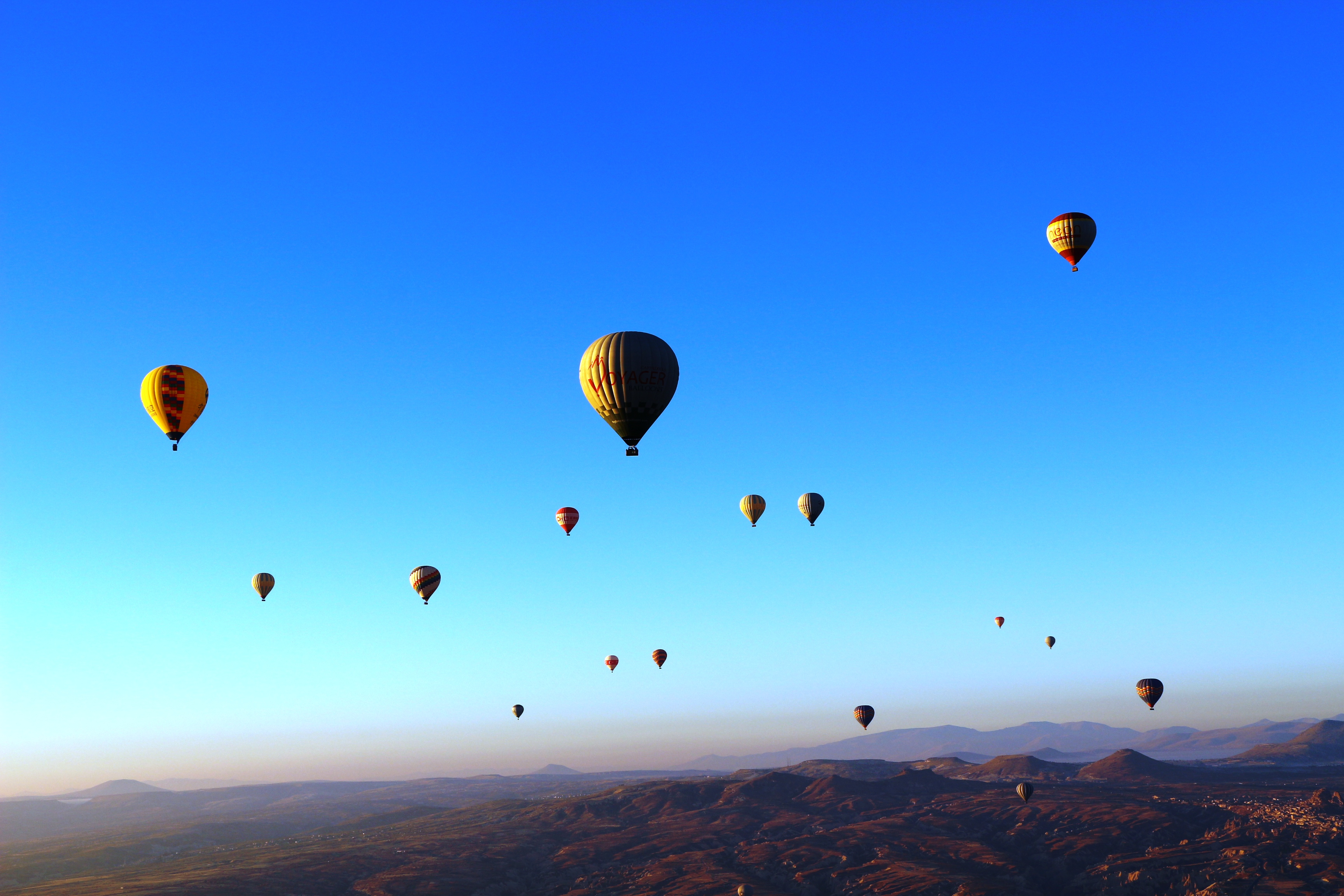 montgolfiere en cappadoce envol