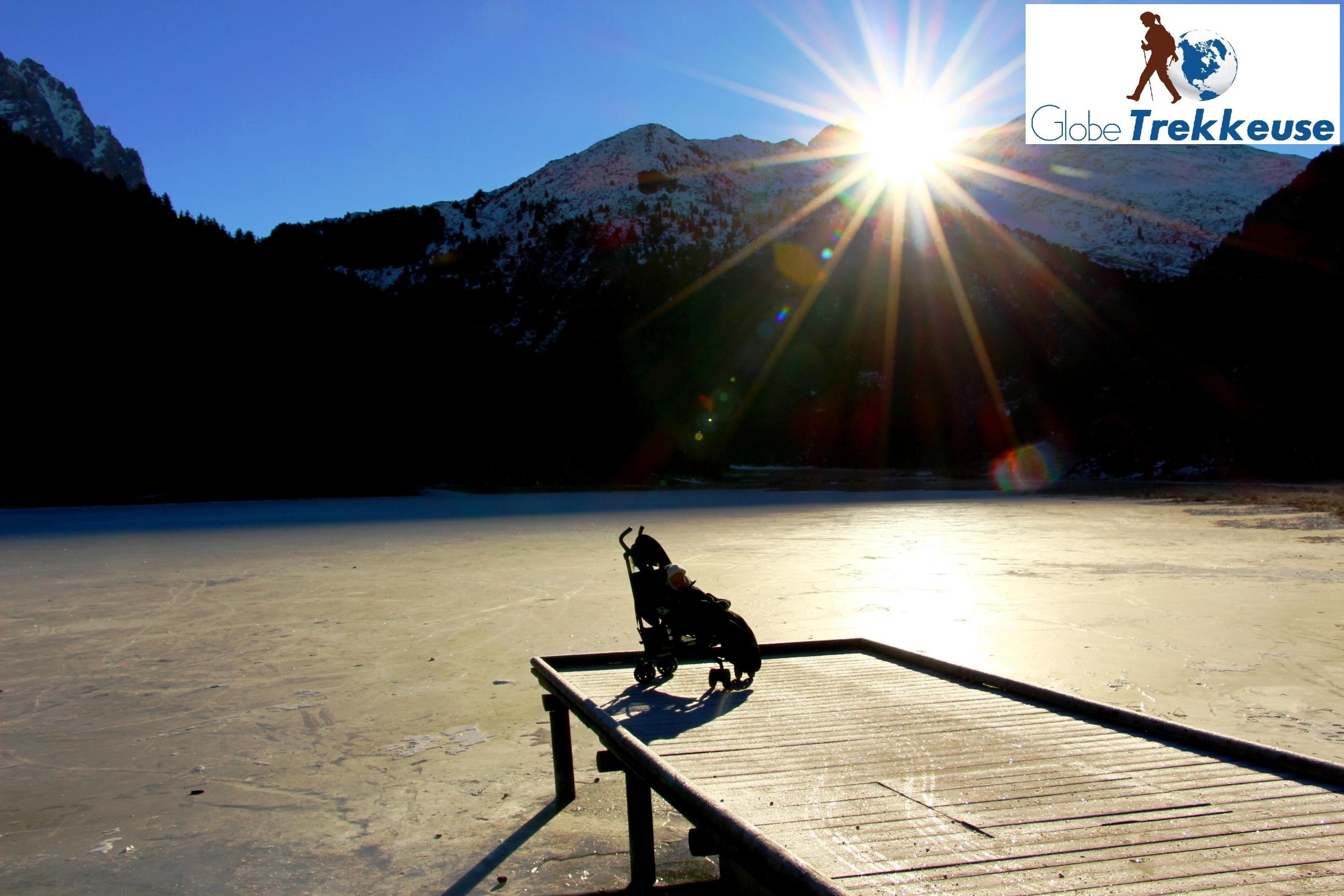 vacances neige avec bebe lac gele