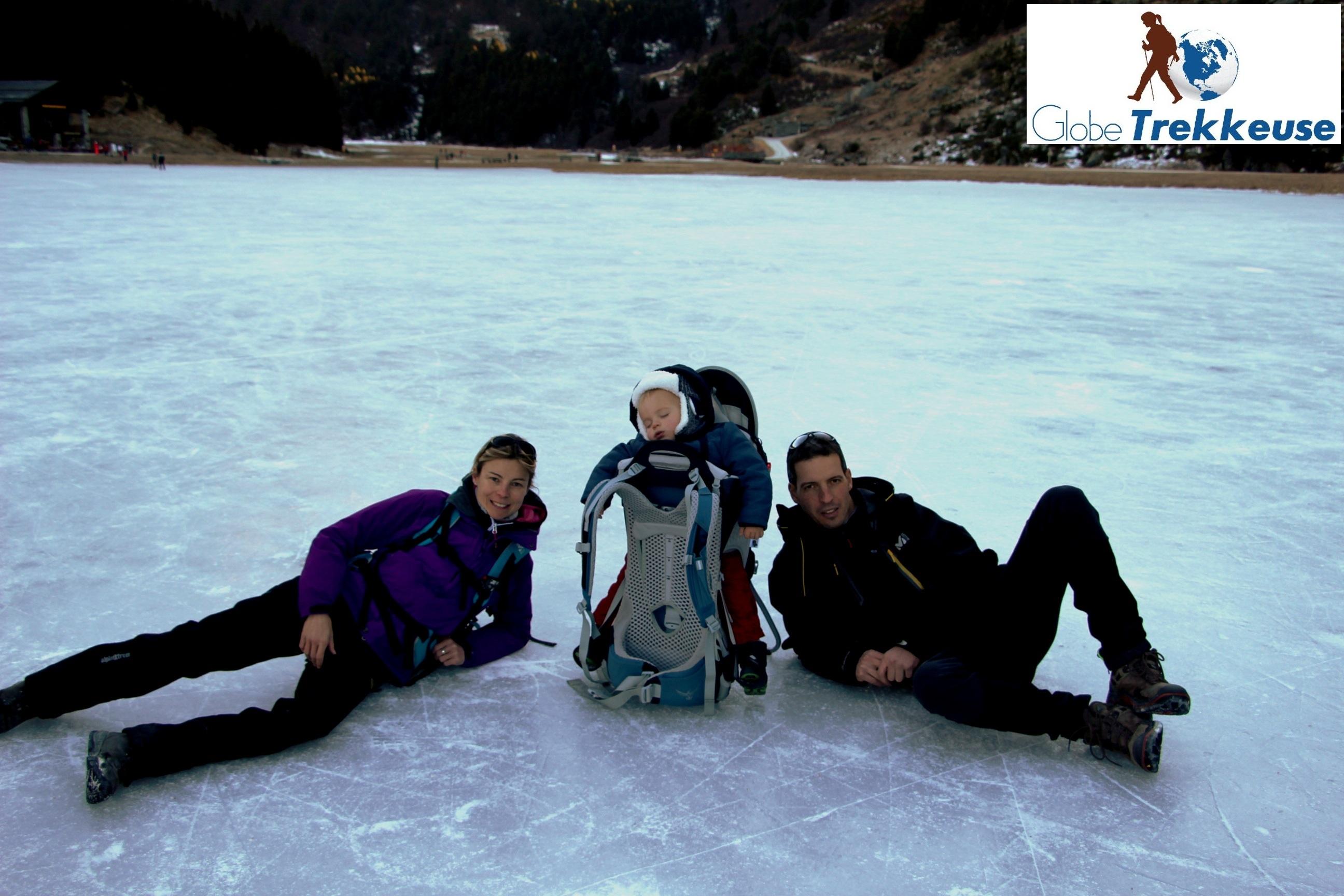vacances neige avec bebe lac