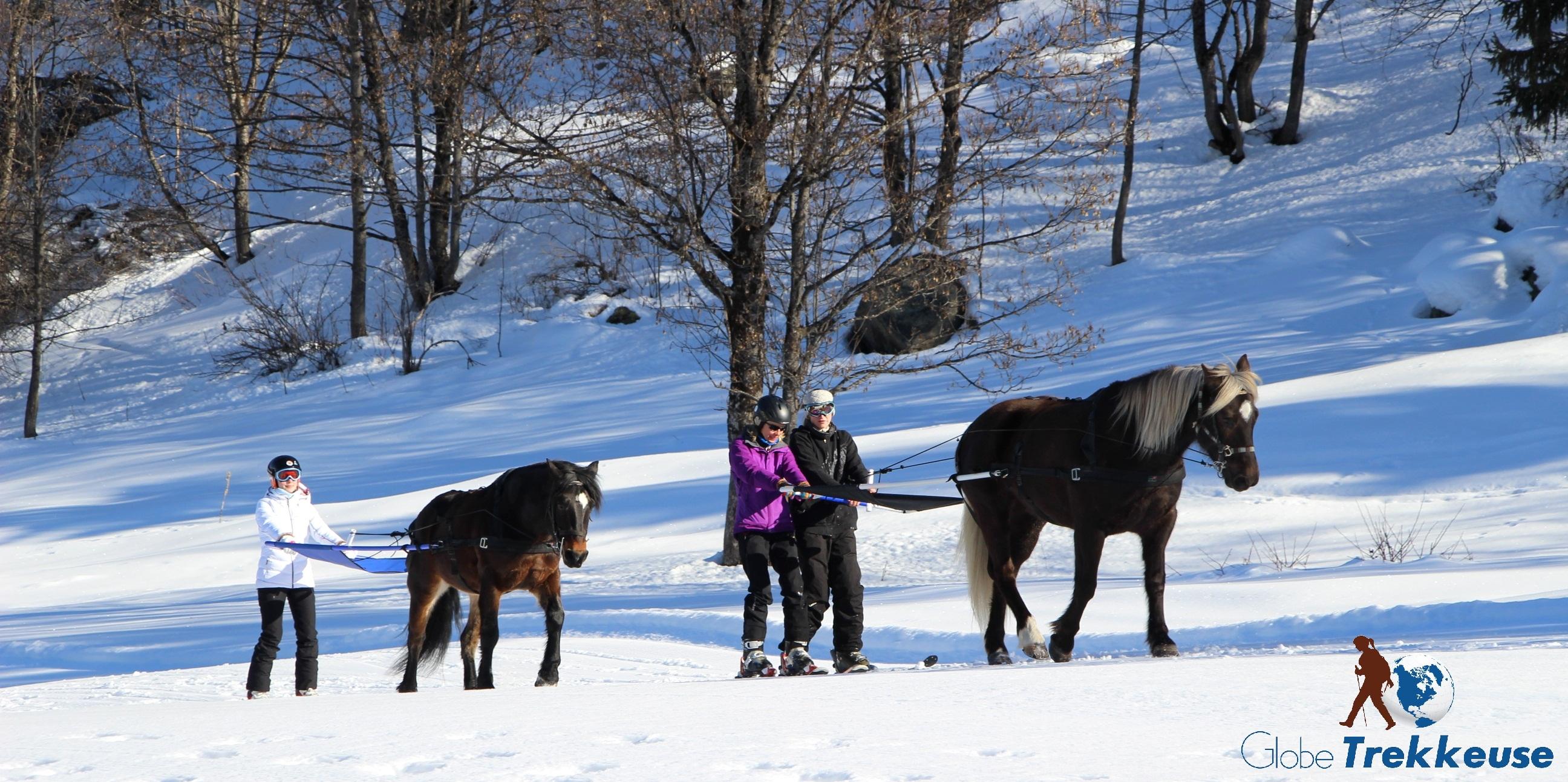 coeur equestre meribel skijoering balade