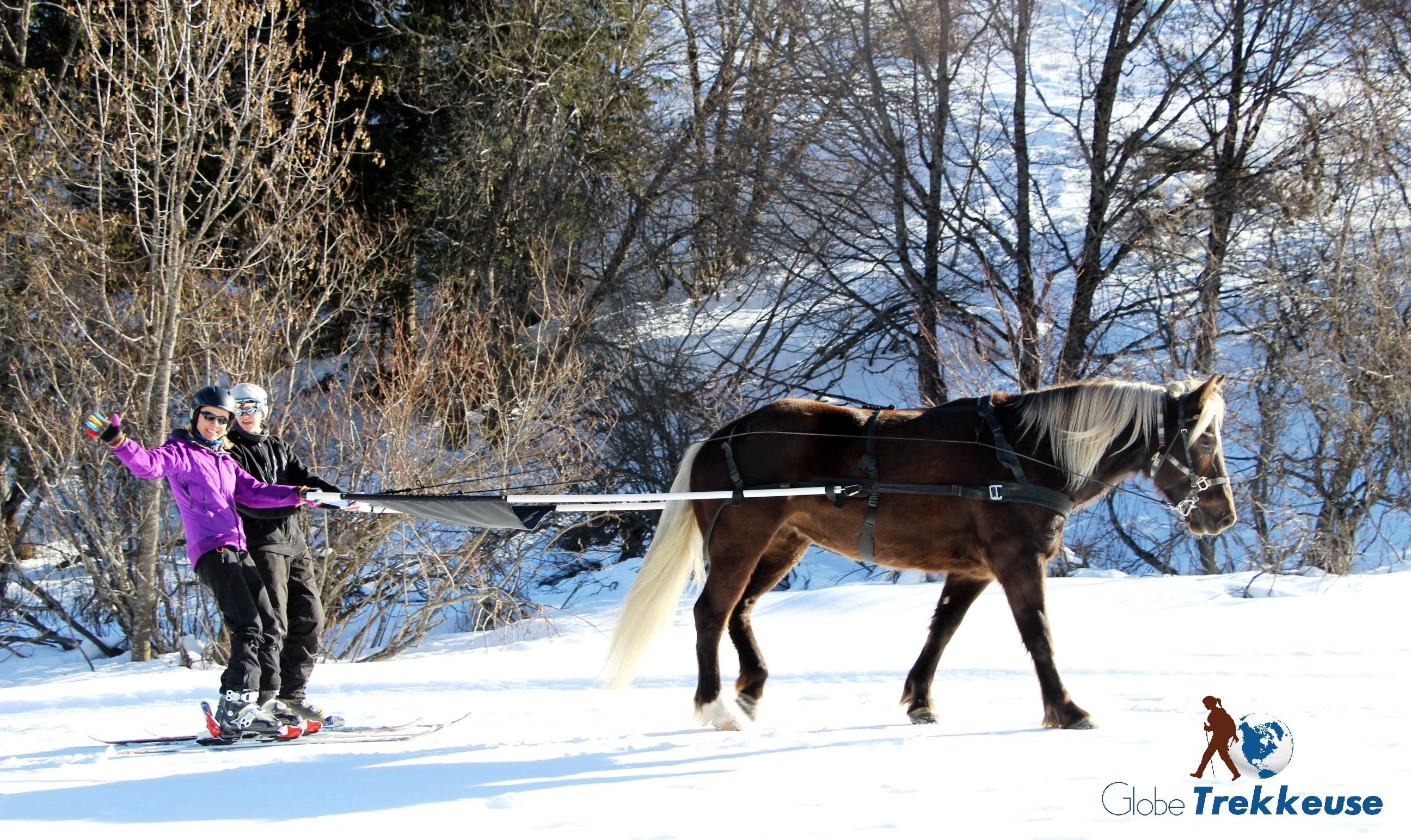 coeur equestre meribel skijoering decouverte