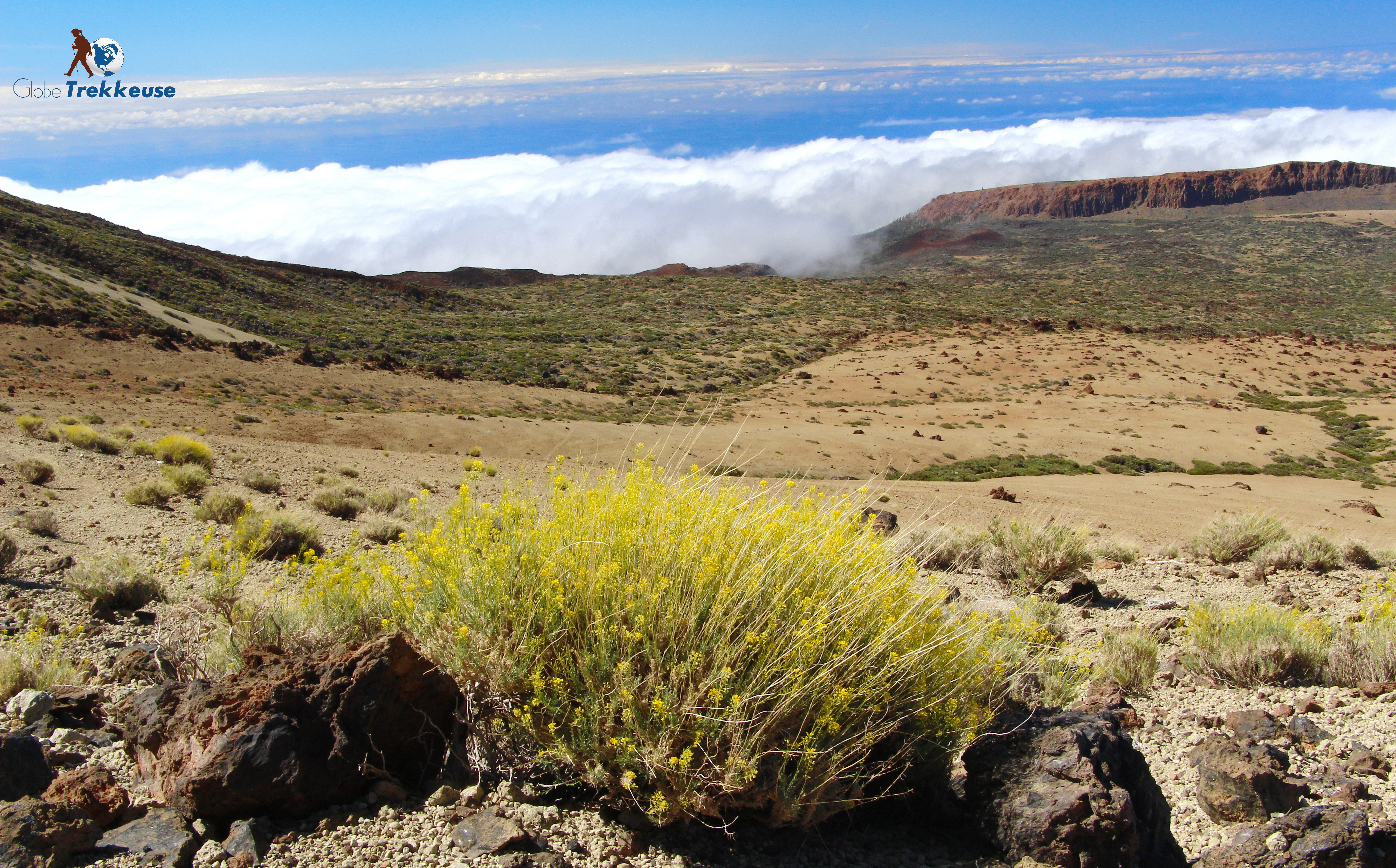 ascension du teide tenerife nuage