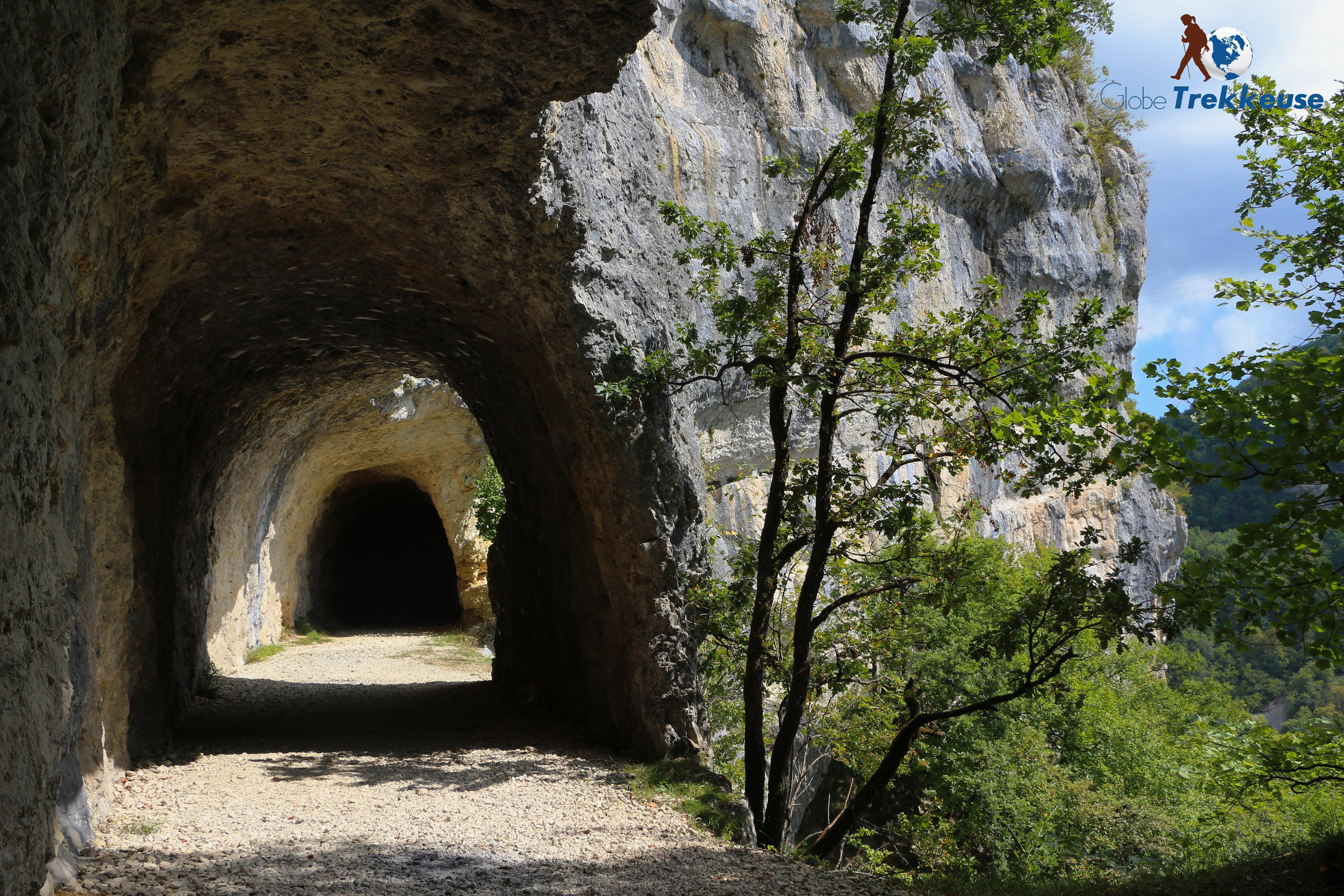 randonnée autour de lyon bugey tunnel