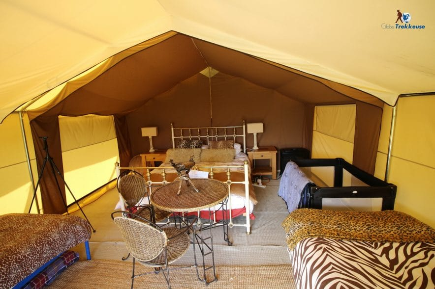 jersey safari tent inside
