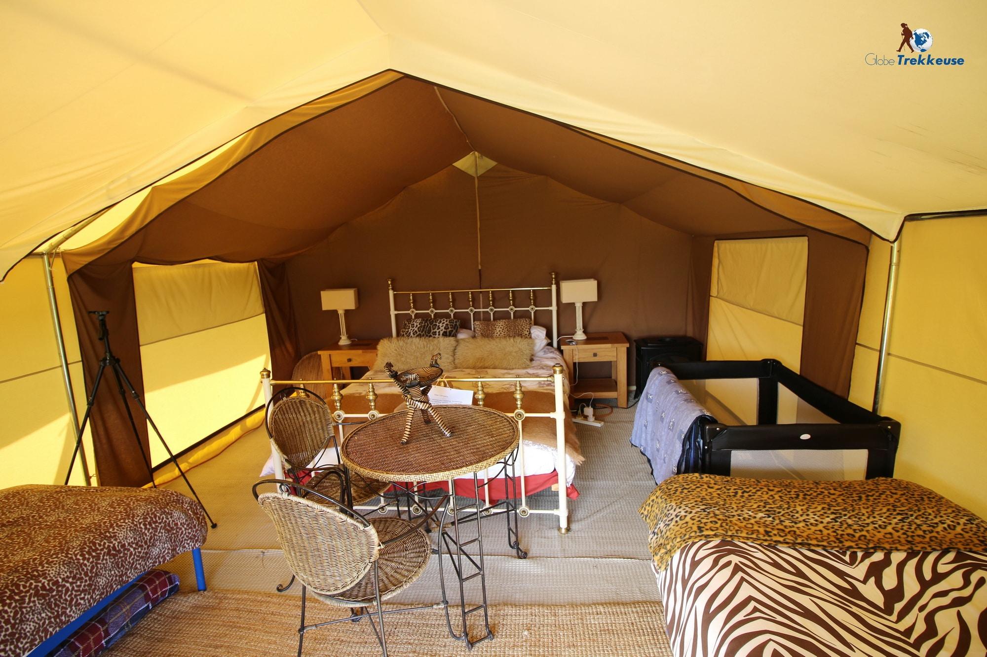 jersey safari tent inside