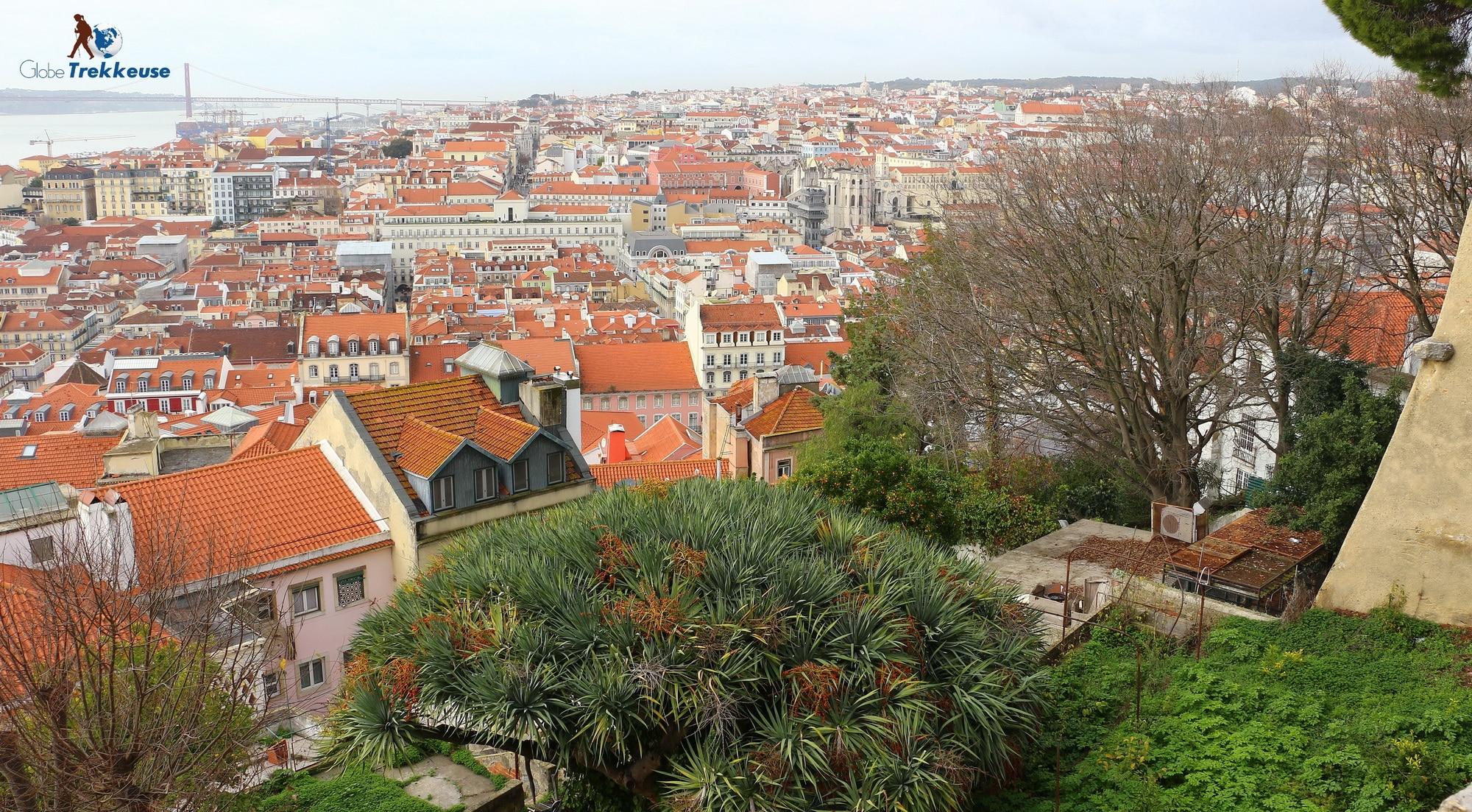 3 jours Lisbonne vue chateau
