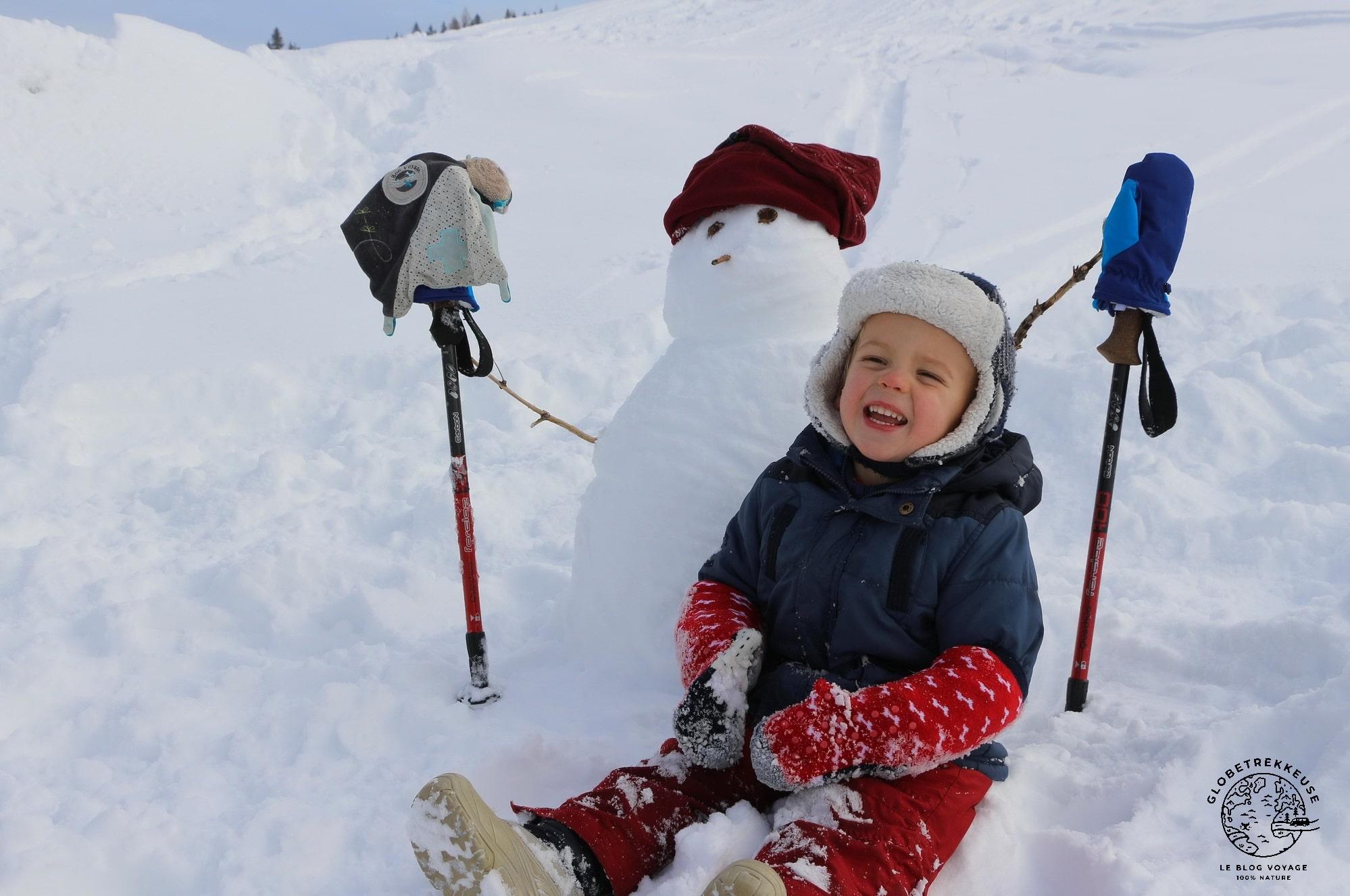 jura en famille hiver bonhommedeneige