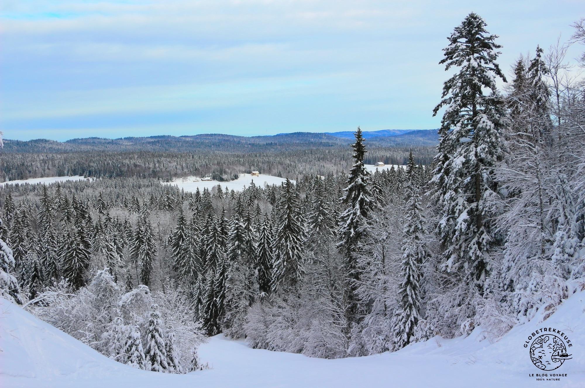 jura en famille hiver paysage