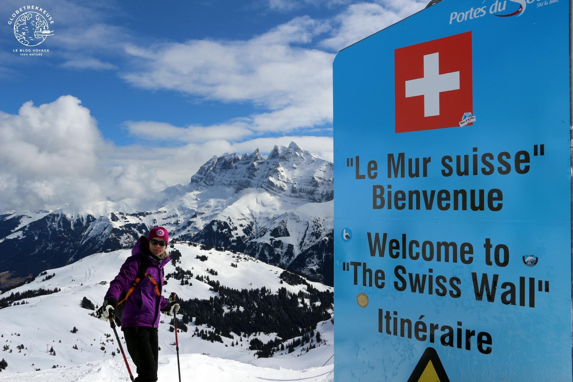 le petit baroudeur hiver mur suisse