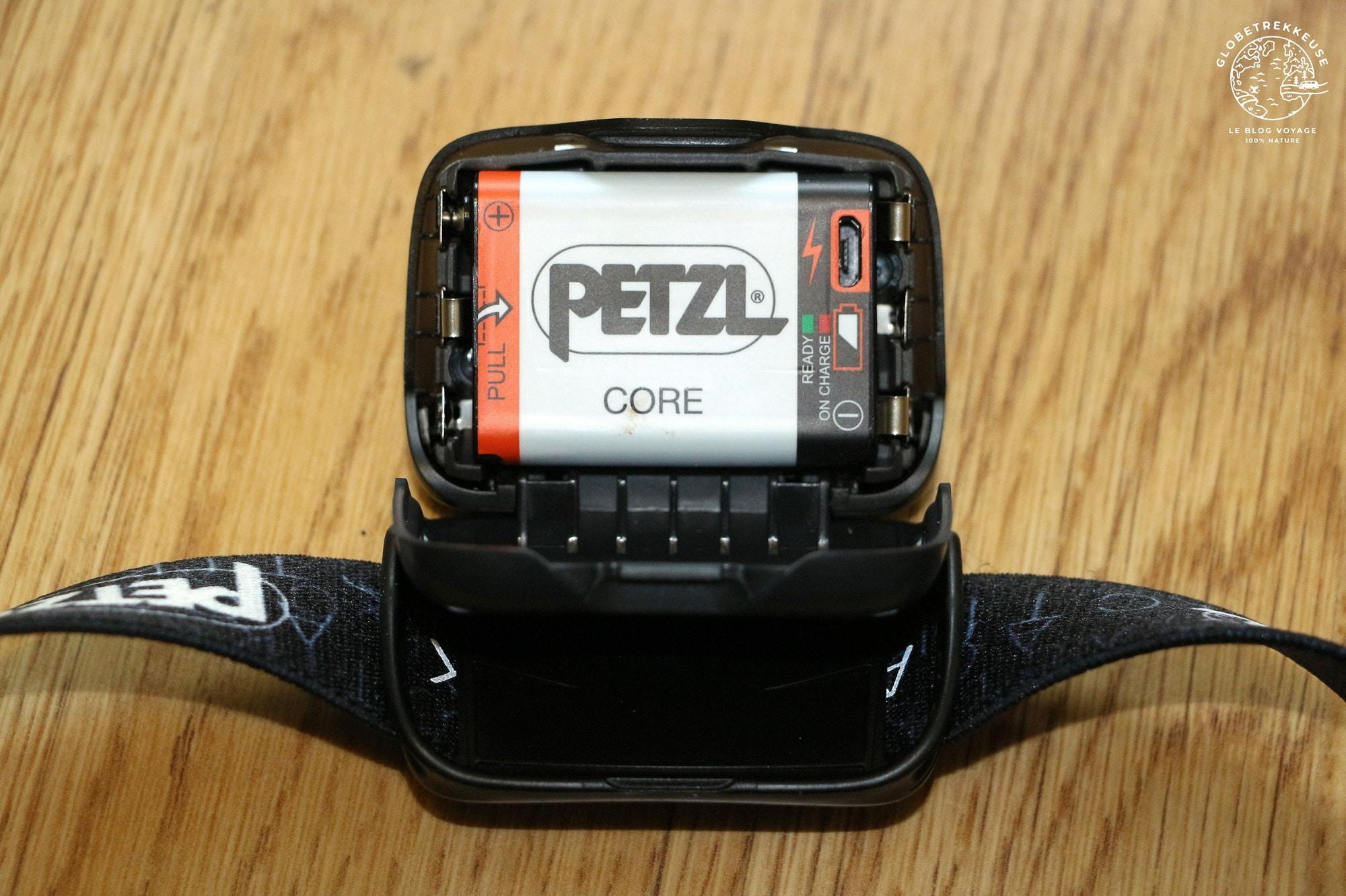 petzl actik core batterie