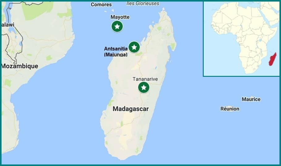 carte tourisme mayotte madagascar