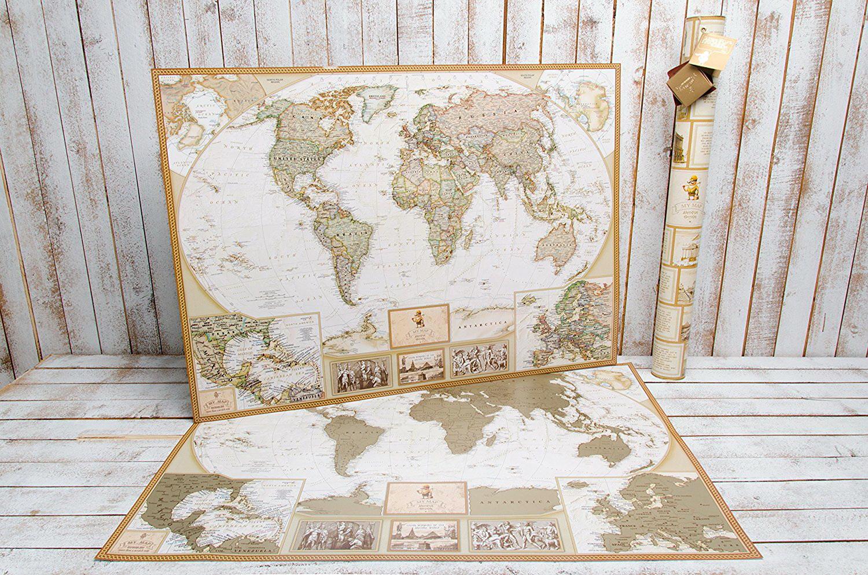 carte du monde a offrir antique