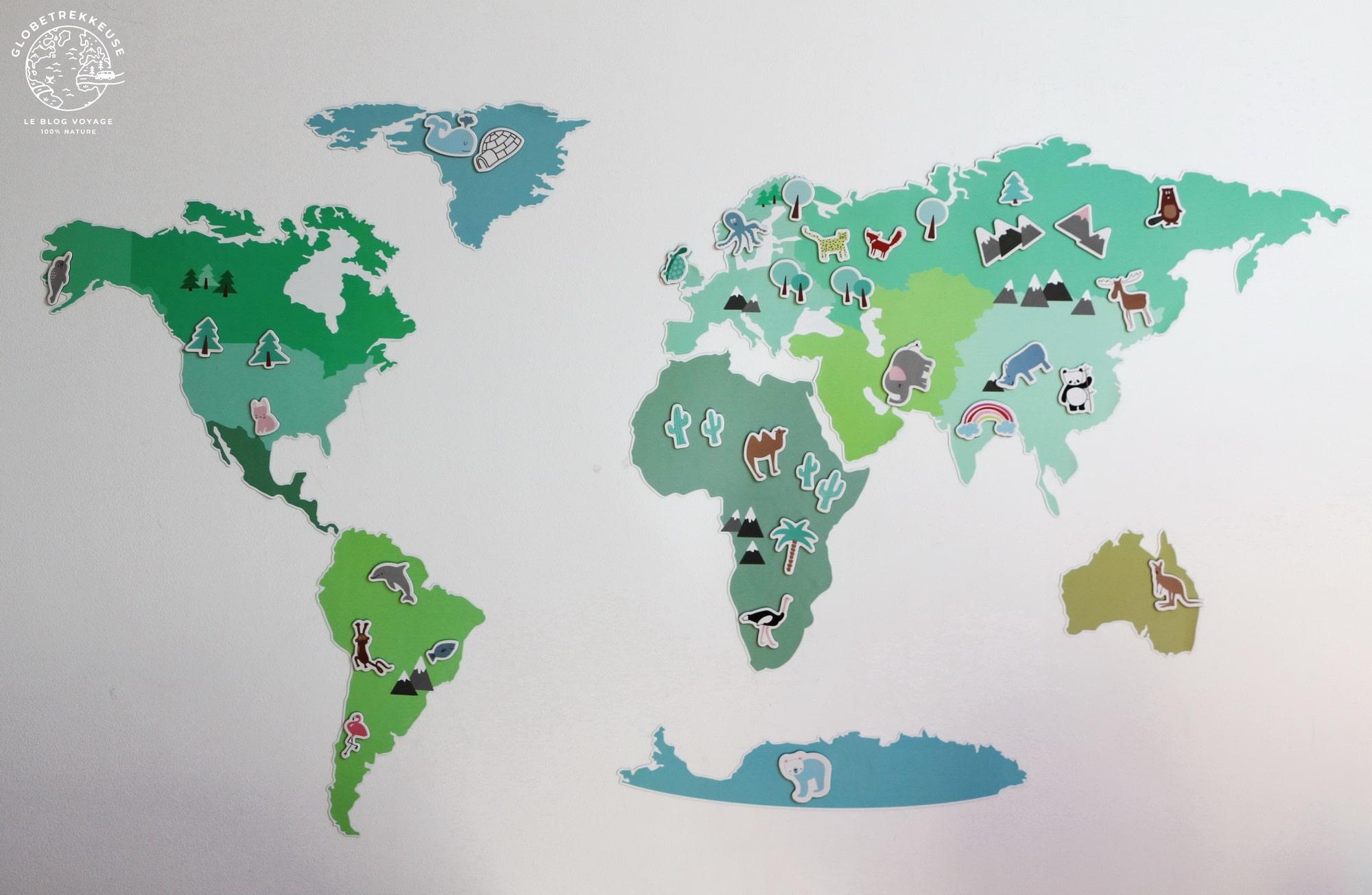 carte du monde a offrir enfant
