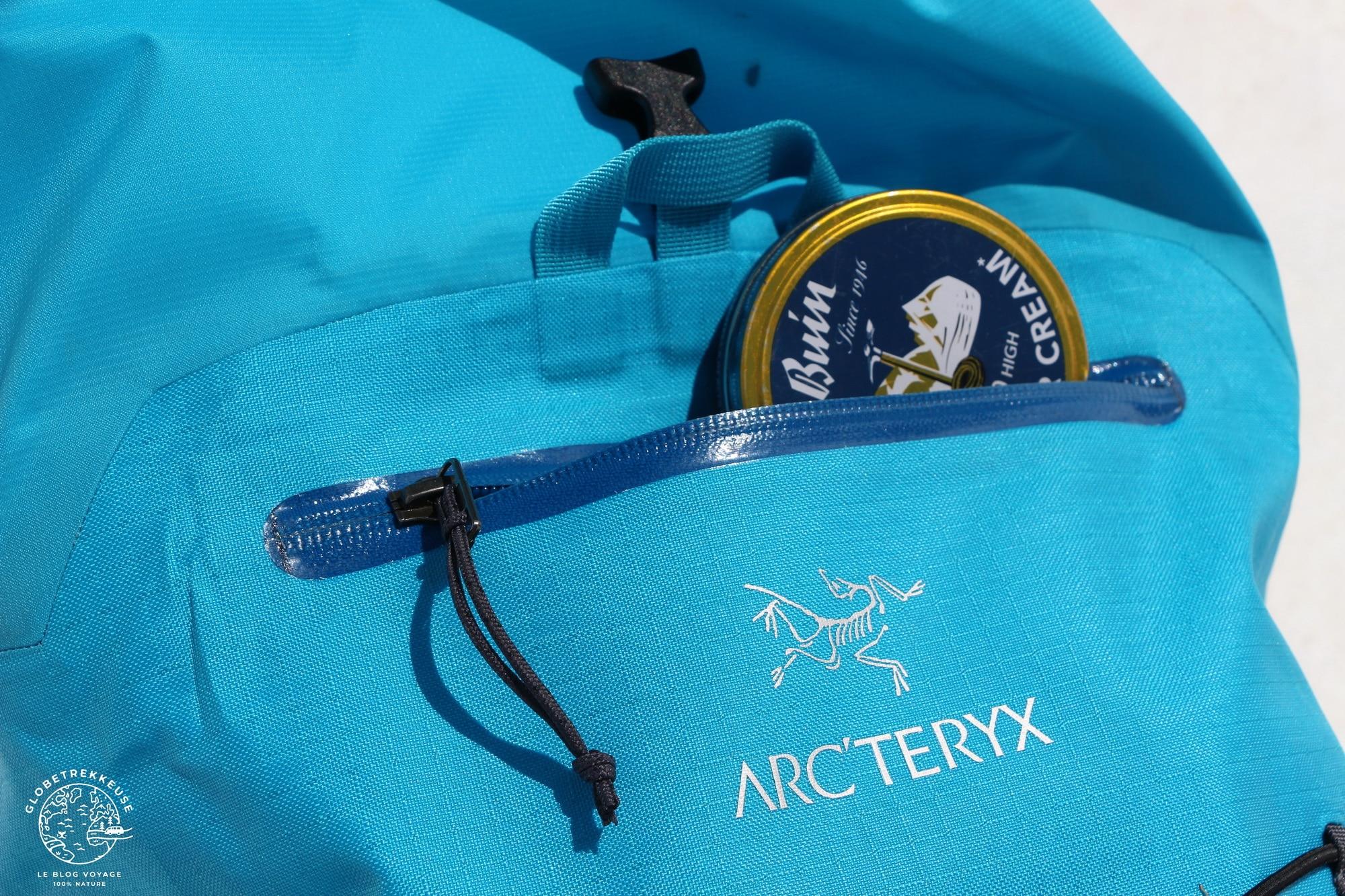 sac a dos arcteryx alpha poche