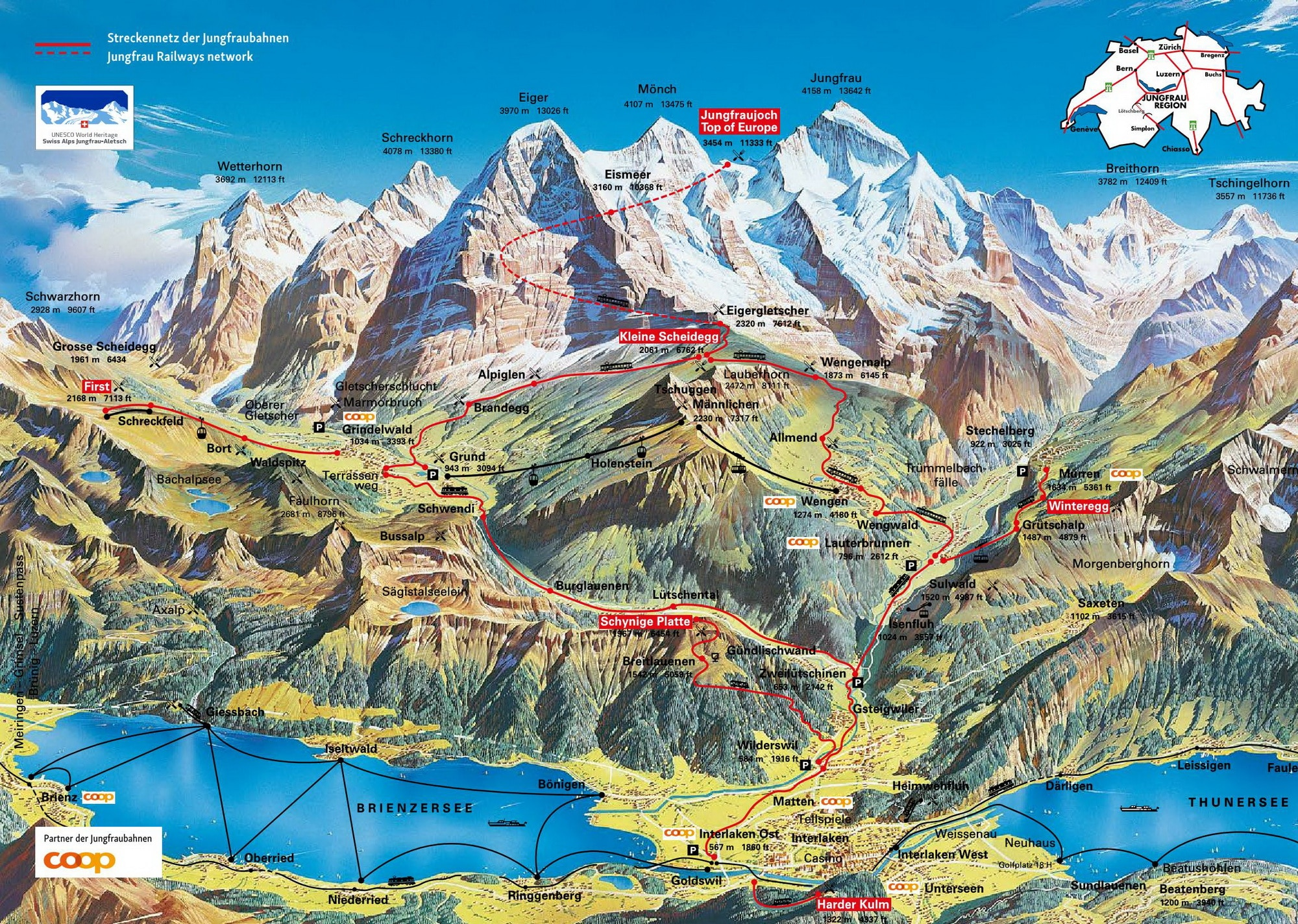 Jungfraujoch plan acces train