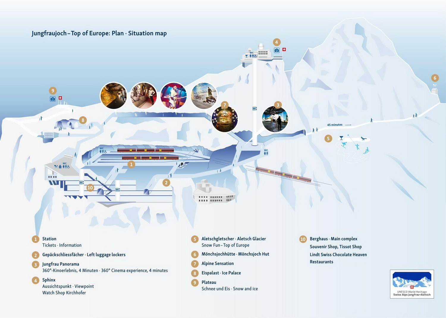 Jungfraujoch plan attractions