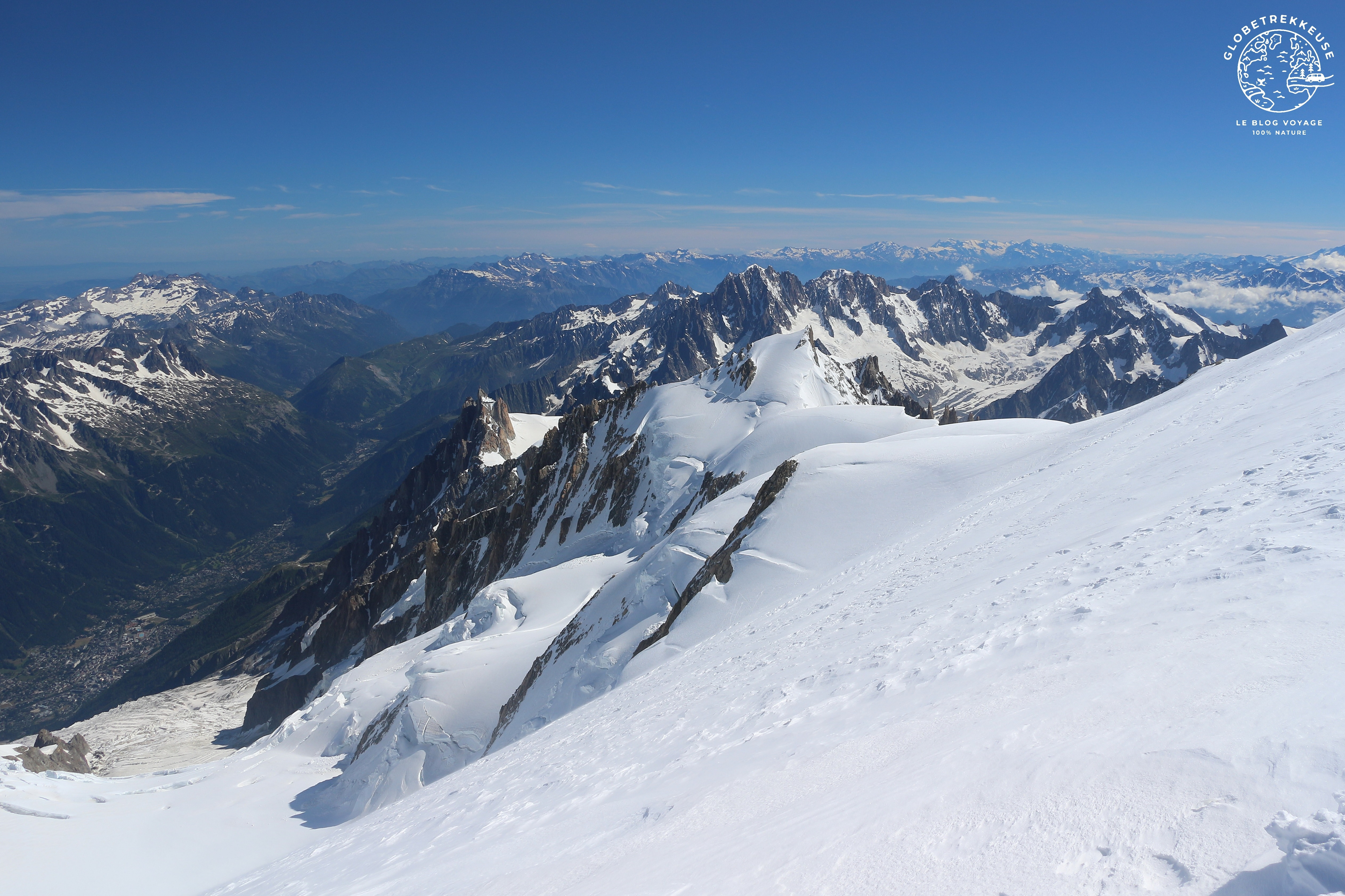 ascension mont blanc sommet
