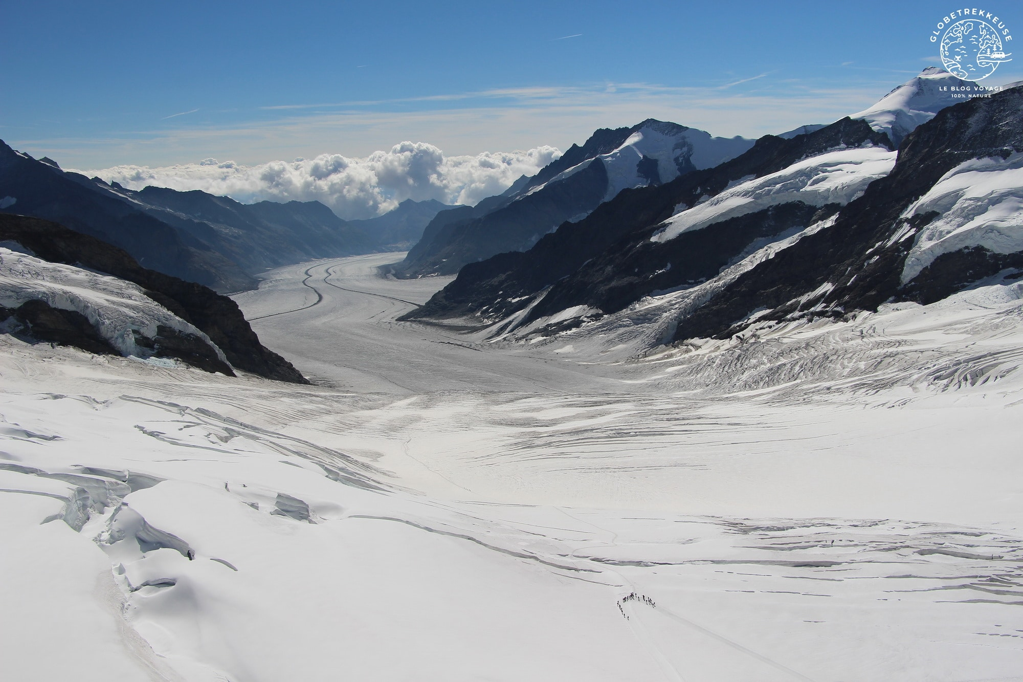 jungfraujoch panorama glacier aletsch