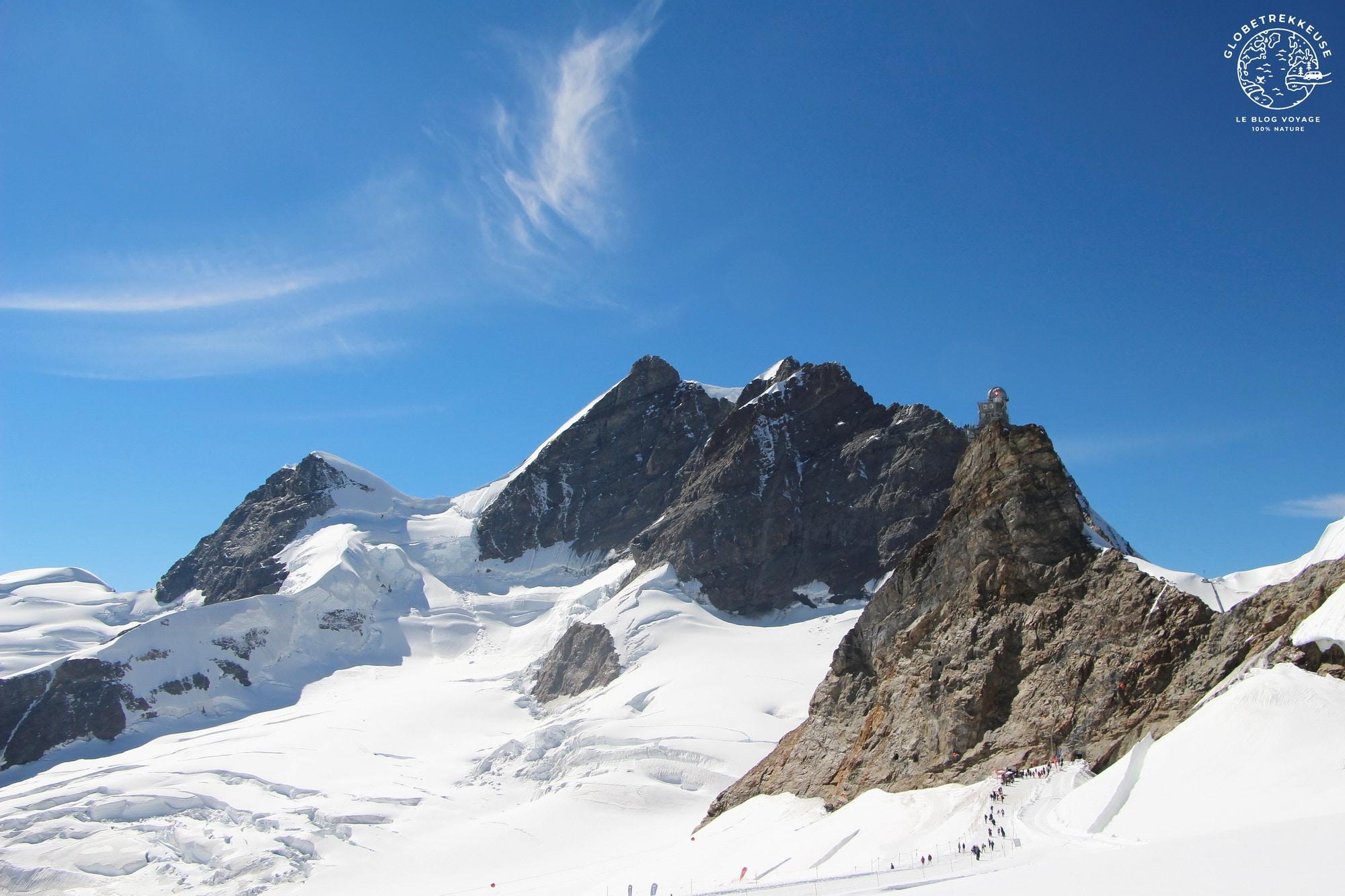 jungfraujoch toit europe panorama