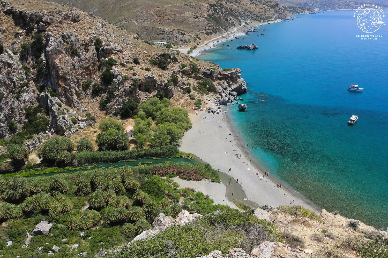 voyage en crete plage preveli
