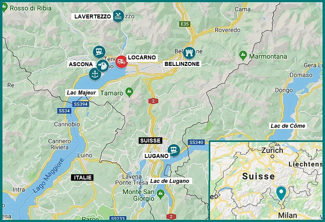 sejour tessin carte itineraire