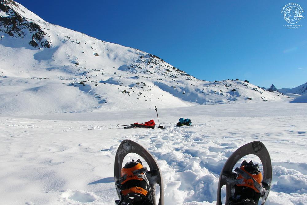 chaussures de randonnee hiver raquettes