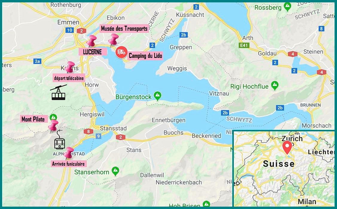 mont pilate suisse lucerne carte