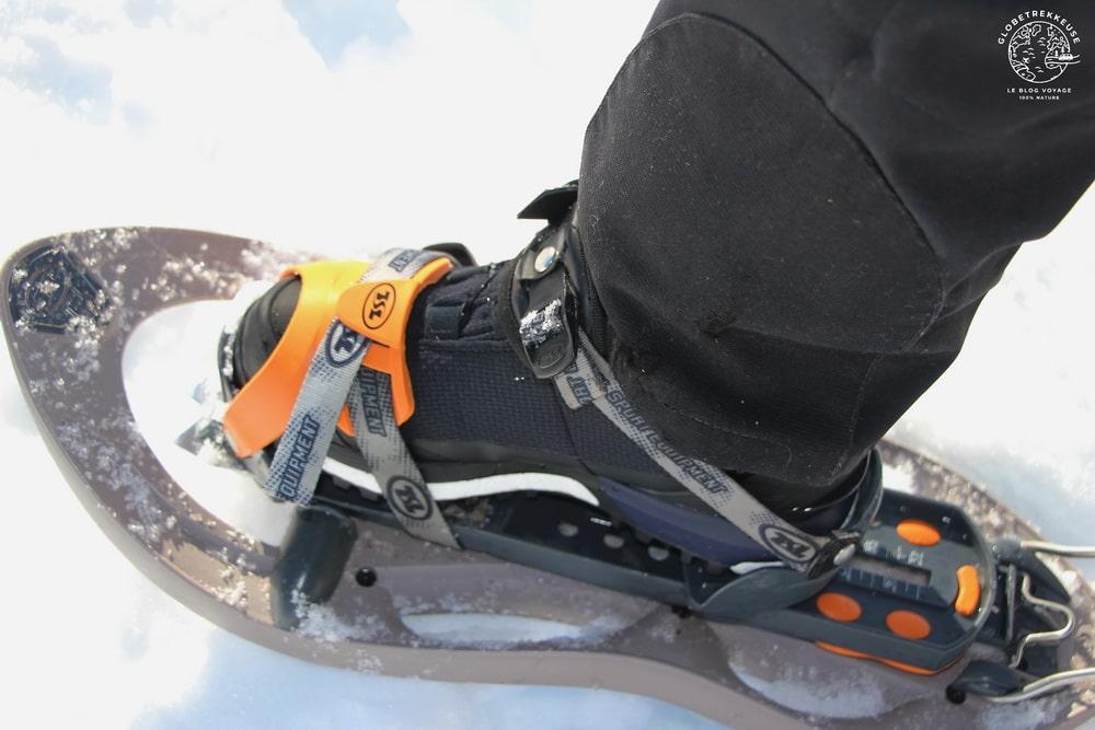chaussures de randonnee raquettes hiver