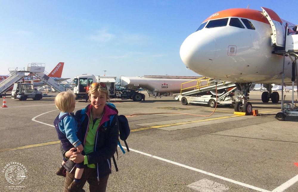 prendre avion avec bebe bagages