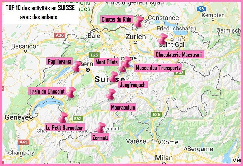 suisse avec enfants carte top10
