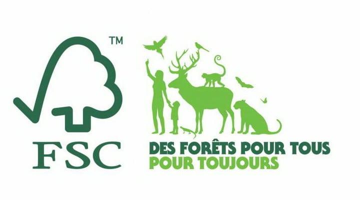 FSC label forets logo