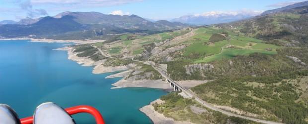 Vol en ULM au-dessus du plus grand lac artificiel de France !