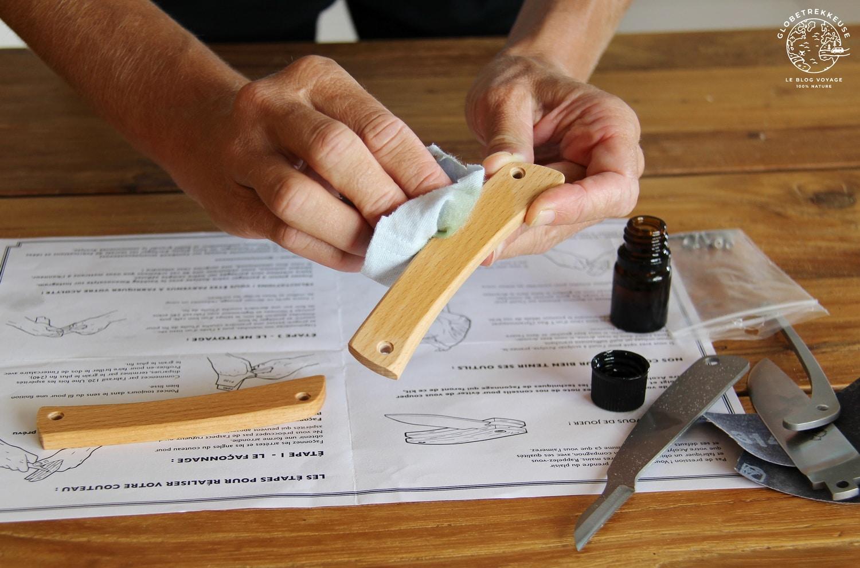 couteau acolyte a fabriquer huile