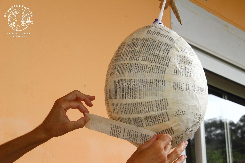 montgolfiere enfant papier mache diy