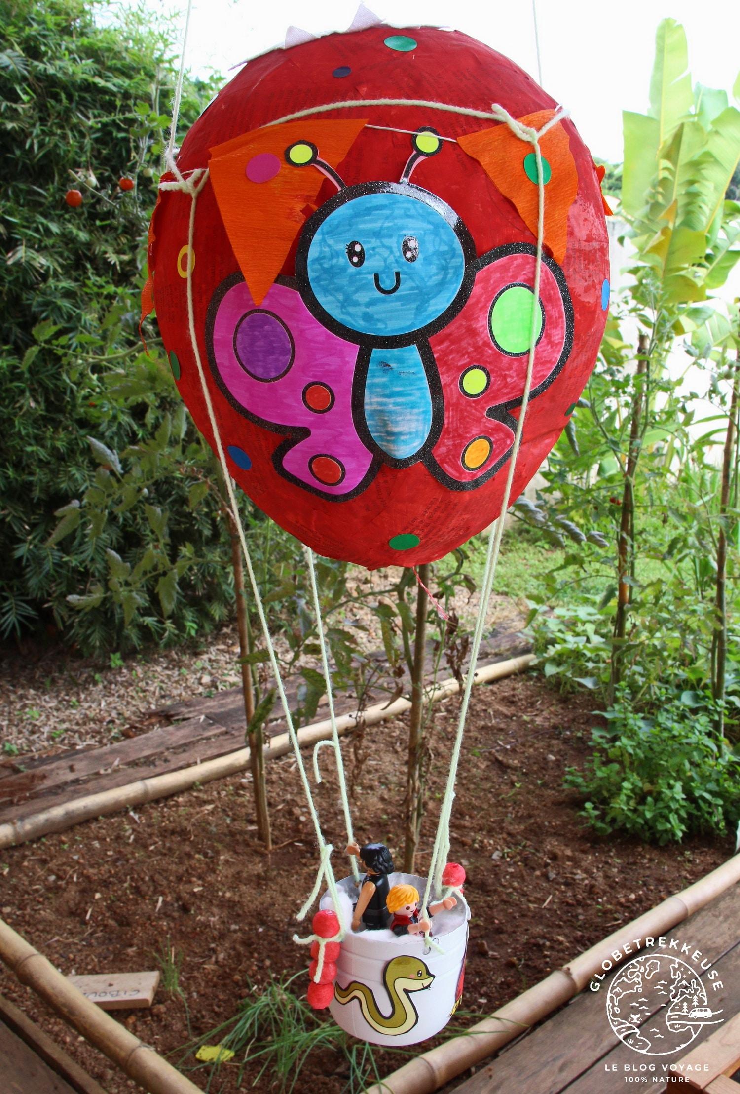 tour du monde en famille confine montgolfiere